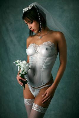 Bridal Corset Body Painting