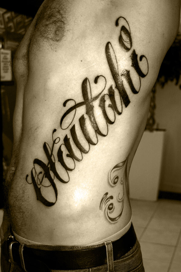 Avoid settling for a tattoo lettering style that is popular because there