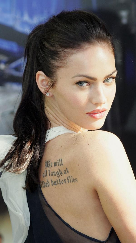 megan fox rib tattoo. Megan Fox Tattoos