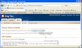 cara mengubah template blogspot