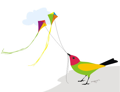 bird and kite art