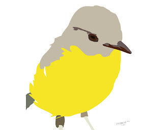 Summers bird, bird art of the day