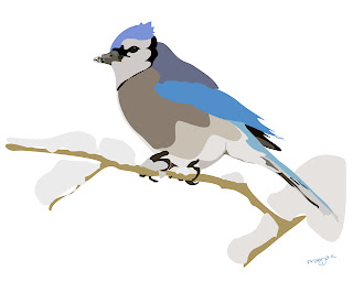 blue bird, bird art of the day