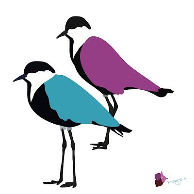 Complicated Affair, bird art of the day