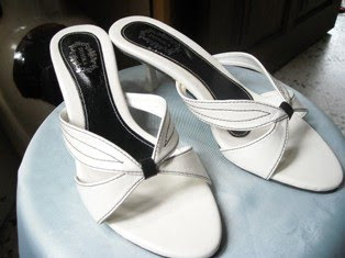 White Leaf Heels