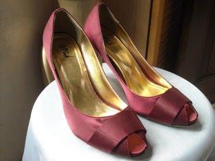 Maroon Peep Toed Heels