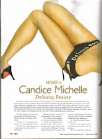 Candice Michelle Makes Muscles Develop