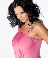 female wrestler Candice Michelle in pink sexy dress