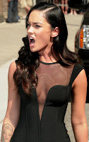 Megan Fox Can't Seam To Stop Licking Her Lips