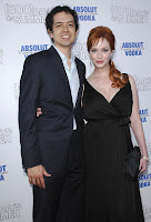 Christina Hendricks In Black Dresses at the '500 Days of Summer' premiere
