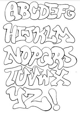 Alphabet Graffiti Sketch Letter A Z Black Book Model Design