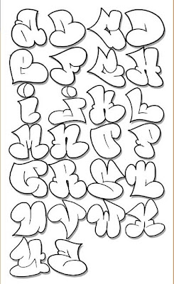 Alphabet Graffiti Letters A Z Throwup Design