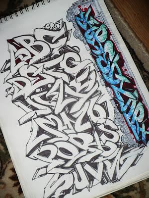 graffiti alphabet,alphabet graffiti,graffiti letter a-z