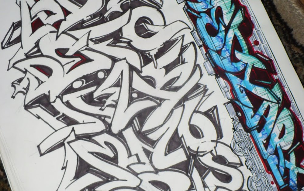 Graffiti Freestyle Alphabet And Letters A Z Wildstyle Black Book