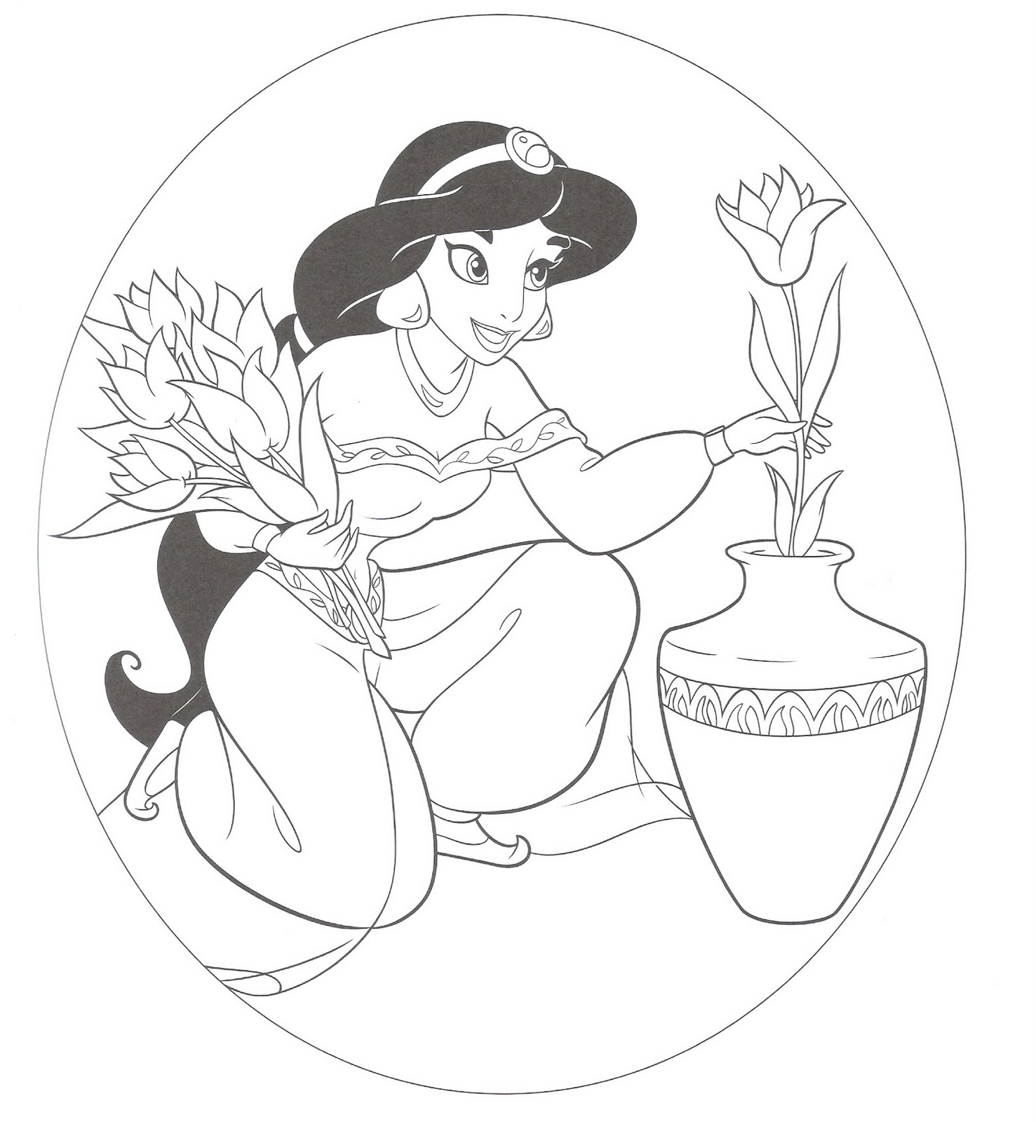 disney princess jasmine coloring pages - photo#13