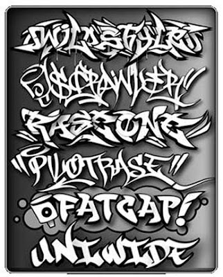 Graffiti Alphabet Throwie. Graffiti Alphabet FATGAP