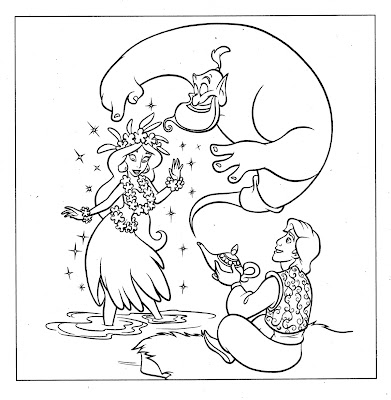 Disney Coloring Pages, aladin