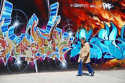 3D Arrow Graffiti Hall Of Fame With Fire Background