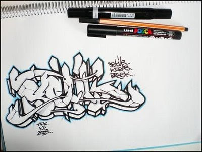 how to draw graffiti letters. how