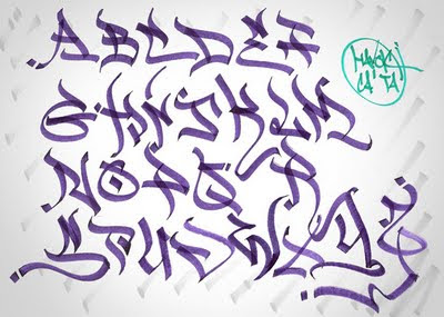 How to Write a Letter with Graffiti Alphabet