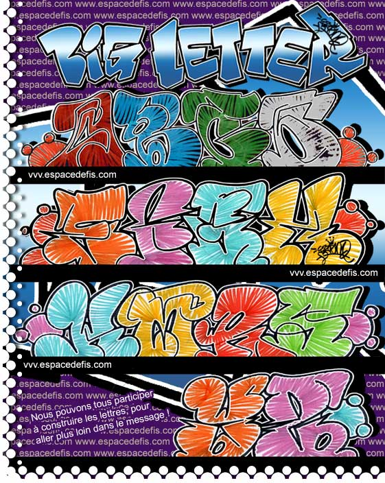 graffiti alphabet fonts. hair 3D Graffiti Alphabet