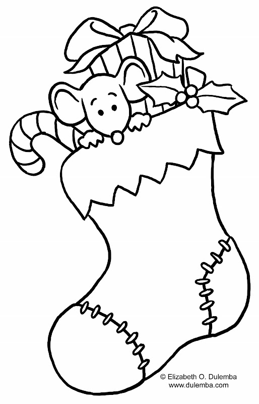 Christmas Stocking Coloring Page title=