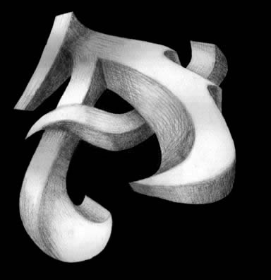 graffiti alphabet letter a