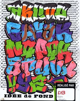 Tag Alphabet Graffiti : Letter A-Z by EN3 Enzo