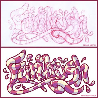 Girly graffiti letters