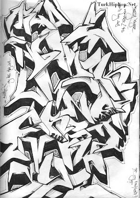 The Best Graffiti Harfleri   Graffiti Alfabesi   Graffiti Alphabet Collection