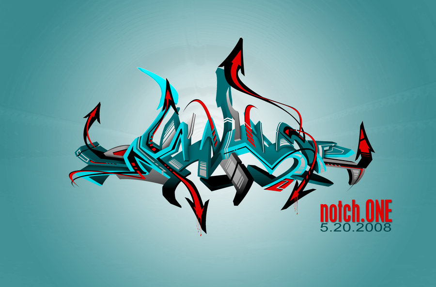 hen866cuq: 3d graffiti wallpapers