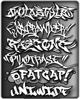 FATGAP GRAFFITI ALPHABET