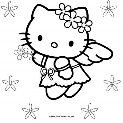 Coloring Pages Online on Hello Kitty Coloring Pages Online Games