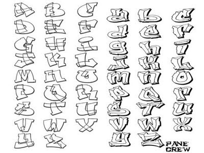 Graffiti Pics And Fonts: How to Draw Sketch Alphabet in Graffiti