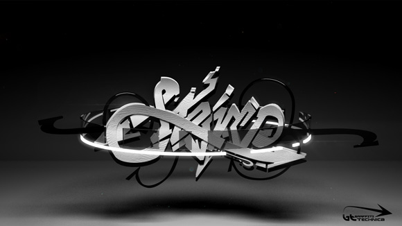 3d graffiti effects
