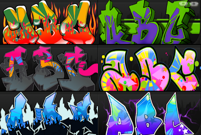 Graffiti Creator, Graffiti Alphabet