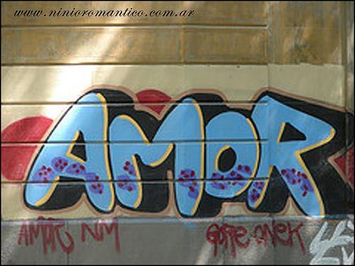 Graffiti walls mural graffiti letters de amor on wall for Como dibujar un mural en la pared
