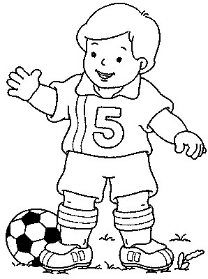 Soccer Player Kids Coloring Pages
