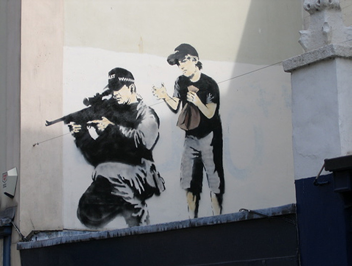 New Graffiti art banksy: Mural