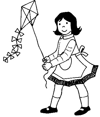 Kids Colorings Pages on Masami Lauman   Little Girl With A Kite  Kids Coloring Pages