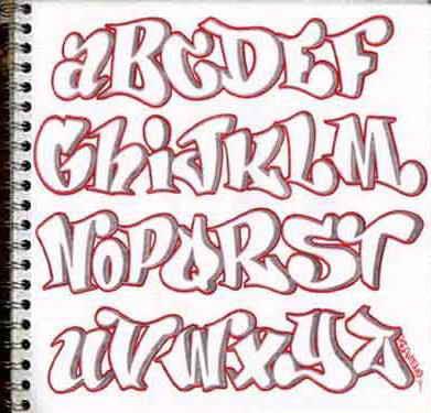 letras graffity. A_Z graffiti alphabet letters