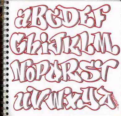 Sample Graffiti Alphabet
