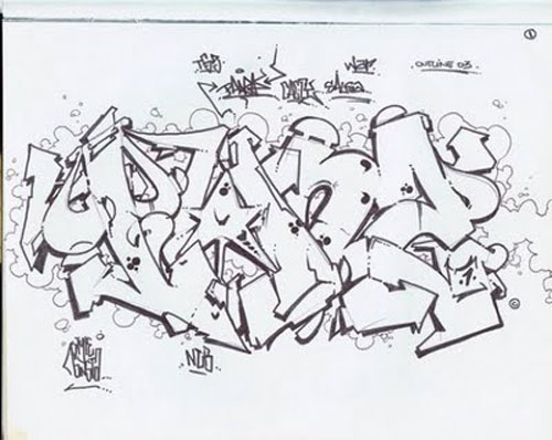 graffiti walls: Wildstyle Graffiti Gallery - Photo, Sketches, Outline