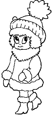 Winter coat and hat kids coloring pages disney for Coloring pages of winter coats