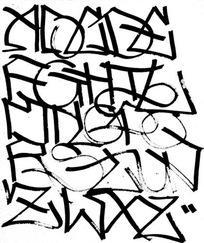 2011 Graffiti Alphabet Wall