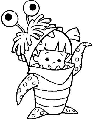 Coloring Pages  Kids on Monster Costume   Kids Coloring Pages    Disney Coloring Pages