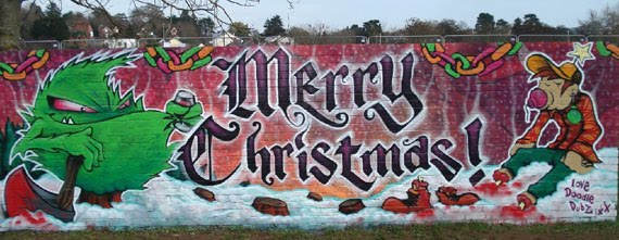 Graffiti Walls Christmas Graffiti Merry Christmas
