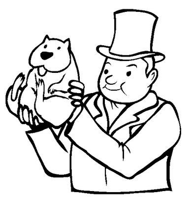 Groundhog Coloring Pages