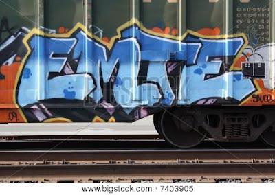 Train Graffiti, graffiti letters