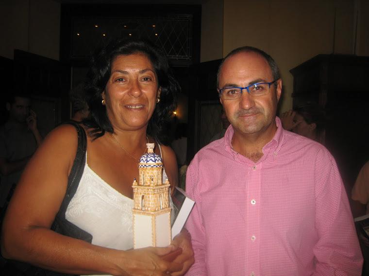 Con Almudena Grandes